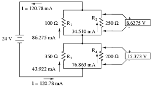 Analysis Techniques for Series Parallel Resistor Circuits