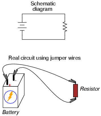 resistor circuit diagram health tongue building simple circuits series and parallel if all we wish to construct is a single battery may easily use alligator clip jumper wires like this