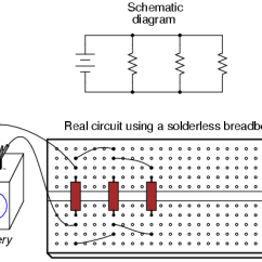 Convert Circuit Diagram To Breadboard Beach Volleyball Court Building Simple Resistor Circuits Series And Parallel Breadboards Have Their Limitations Though First Foremost They Are Intended For Temporary Construction Only If You Pick Up A