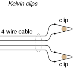 4 Wire Measurement Circuit True Freezer Wiring Diagram Kelvin Resistance Dc Metering Circuits In Regular Alligator Style Clips Both Halves Of The Jaw Are Electrically Common To Each Other Usually Joined At Hinge Point
