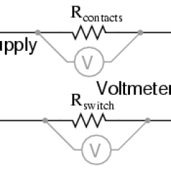 4 Wire Measurement Circuit Leeson 1hp Motor Wiring Diagram Kelvin Resistance Dc Metering Circuits The Can Be A Practical Tool For Finding Poor Connections Or Unexpected In An Electrical Connect Power Supply To