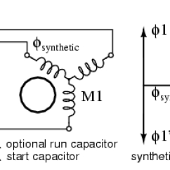 Wiring Diagram Of A Single Phase Motor With Two Capacitors Simplicity 7116 Tesla Polyphase Induction Motors Ac Electronics Textbook Running Three On Provisions