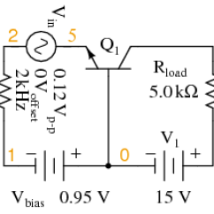Common Base Configuration Circuit Diagram Vw Golf Mk4 Radio Wiring The Amplifier Bipolar Junction Transistors For Spice Ac Analysis