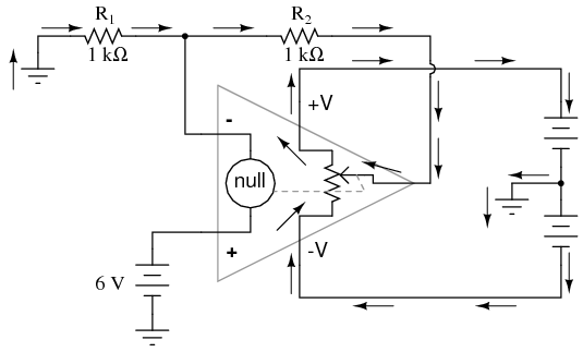 operational amplifier and inside function circuit diagram amplifier