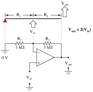 An Analogy for Divided Feedback | Operational Amplifiers