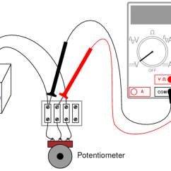Voltmeter Wiring Diagram 50cc Four Wheeler Potentiometer As A Voltage Divider | Dc Circuits Electronics Textbook