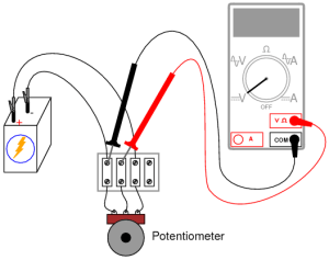 Potentiometer as a Voltage Divider | DC Circuits