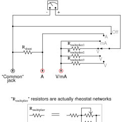 Digital Ac Ammeter Circuit Diagram One Gang Two Way Light Switch Wiring Make Your Own Multimeter | Dc Circuits Electronics Textbook