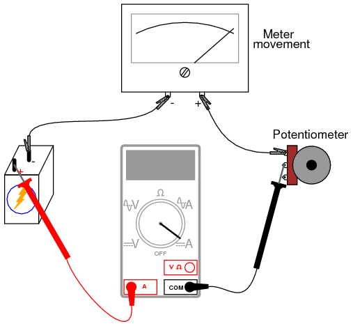 shunt resistor wiring diagram cs130 alternator make your own multimeter | dc circuits electronics textbook