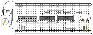 NAND Gate SR FlipFlop | Digital Integrated Circuits | Electronics Textbook