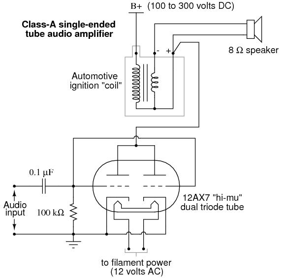 Amp Meter Wiring Diagram Resistor Vacuum Tube Audio Amplifier Discrete Semiconductor