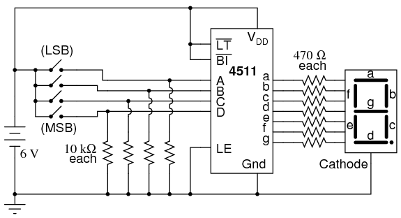 7 segment clock circuit diagram