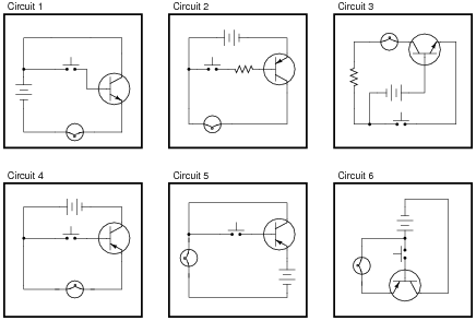 Bipolar Junction Transistors as Switches Worksheet