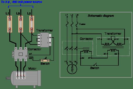 Simple Motor Control Wiring Diagrams 1 Phase Motor Starter Wiring