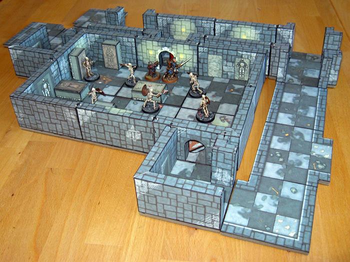 Assembled 3D Dungeon