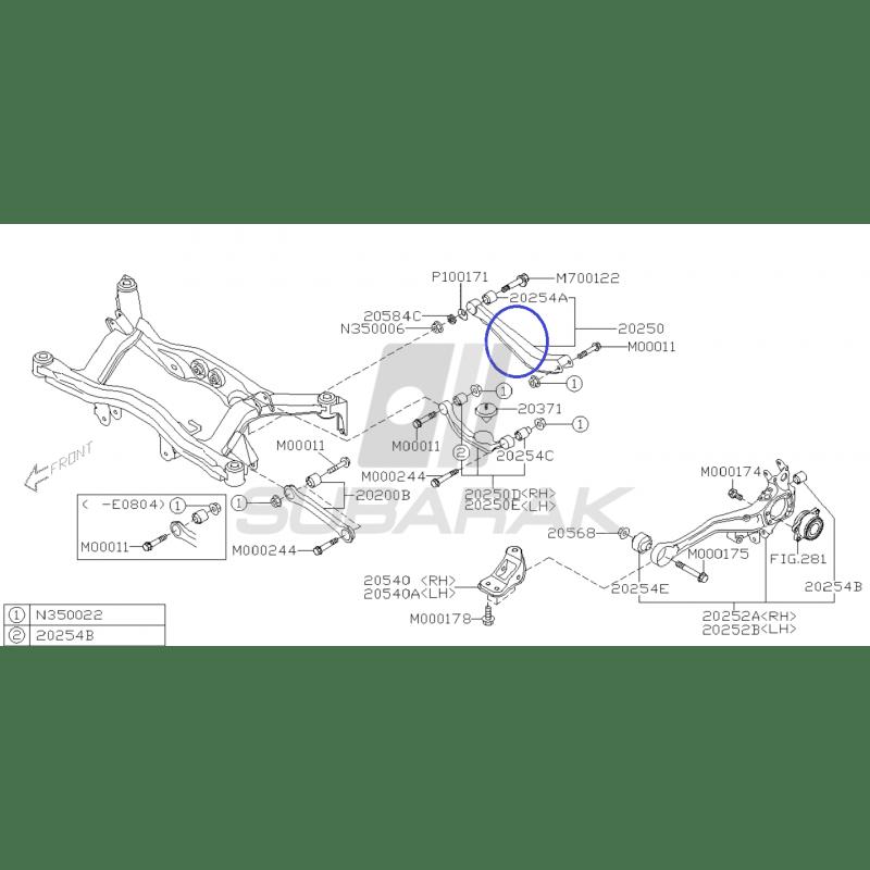 Suspension Control Arm Rear for Subaru Legacy/Outback 98