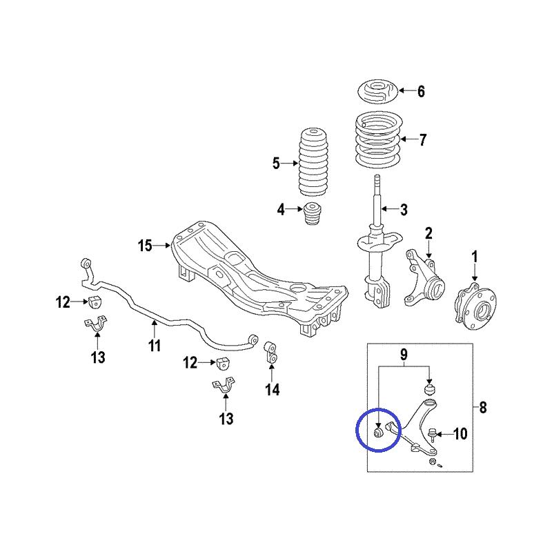 Przednia tuleja przedniego wahacza do Subaru Legacy