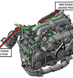design change to engine wiring harness 2012 2014 subaru [ 1137 x 844 Pixel ]