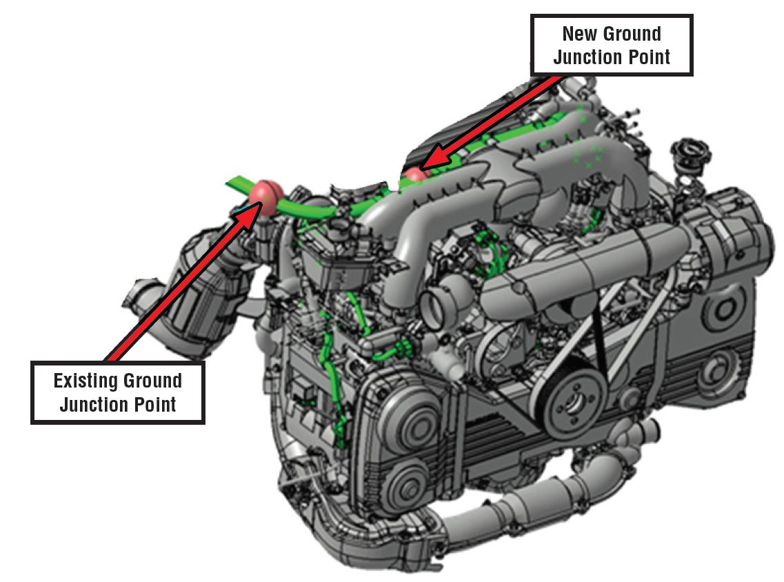 hight resolution of design change to engine wiring harness 2012 2014 subaru