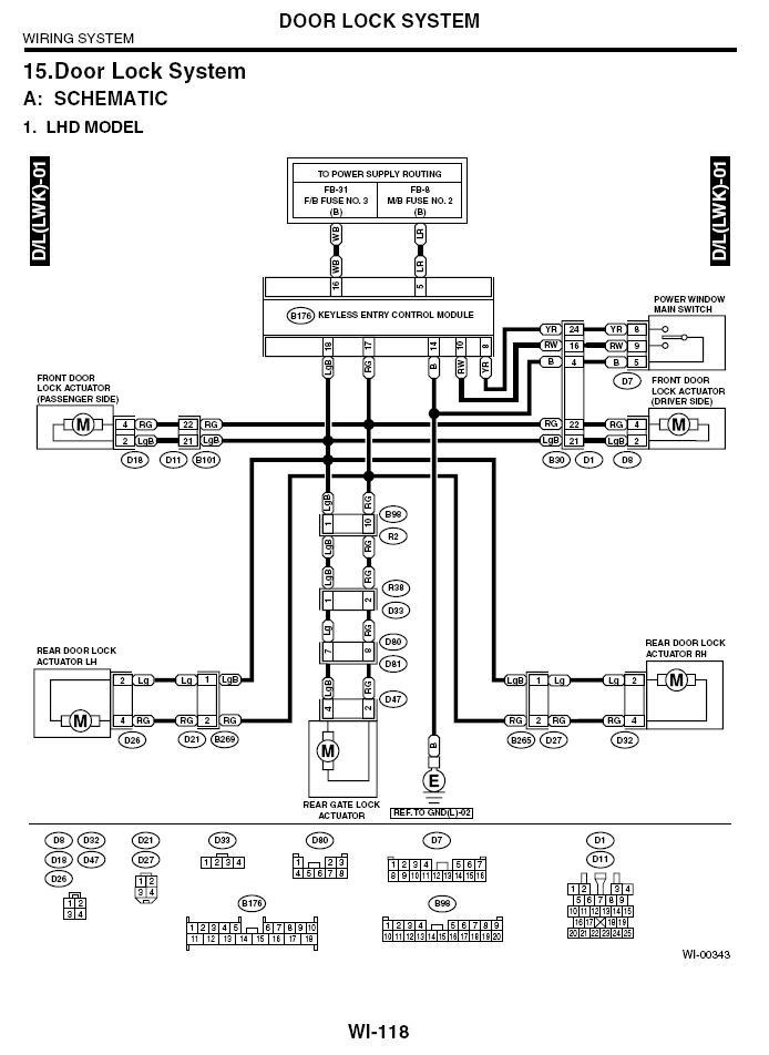 5 Wire Door Lock Actuator Wiring Diagram : actuator, wiring, diagram, Years), Window, Control, Wiring, Question?, (merged, Thread), Subaru, Forester, Owners, Forum