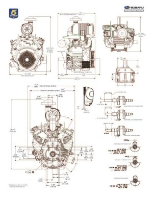 EH99 Small OHV VTwin Engine Technical Information | Subaru