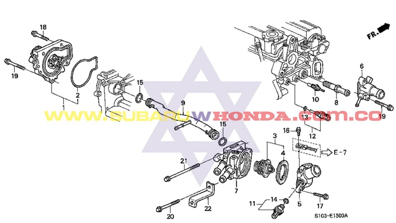 Termostato Honda Crv Awd 2 0 Rvi Rvsi Oyg