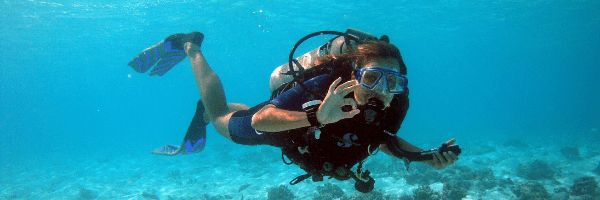young scuba diver