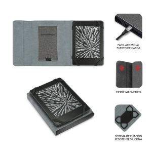 Funda Ebook Stand Gris