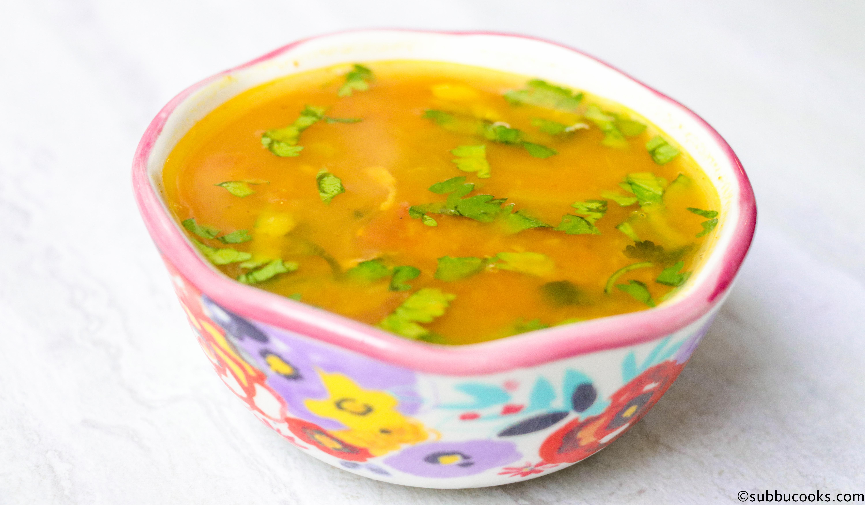 Instant pot Pappu Charu - Dal Rasam - Andhra style – Subbu Cooks