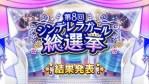 【デレステ】第8回シンデレラガール総選挙結果!人気ランキング1位は?