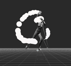 Moving siphon actor with particles