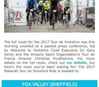 Excited about the #TourDeYorkshire in April… Signed up for the #maserati #TdY sportive with dad and my cousin… It might not be the cheapest event but it's good fun and last year was very well organised. Hoping to get a few other sportive in across #2017 with them both too… #cycling #sportive #tdy2017 #maseratitourdeyorkshire