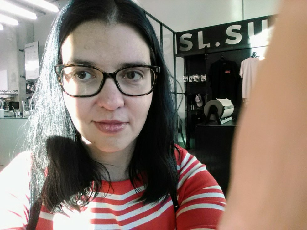 Awkward selfie.
