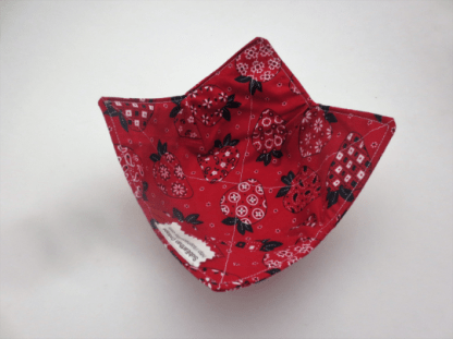 strawberry bandanna cozy view 2