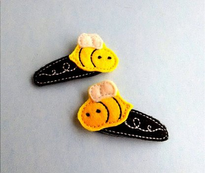 Bee Hair Clip Barrettes in Yellow and Black
