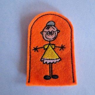 grandma finger puppet