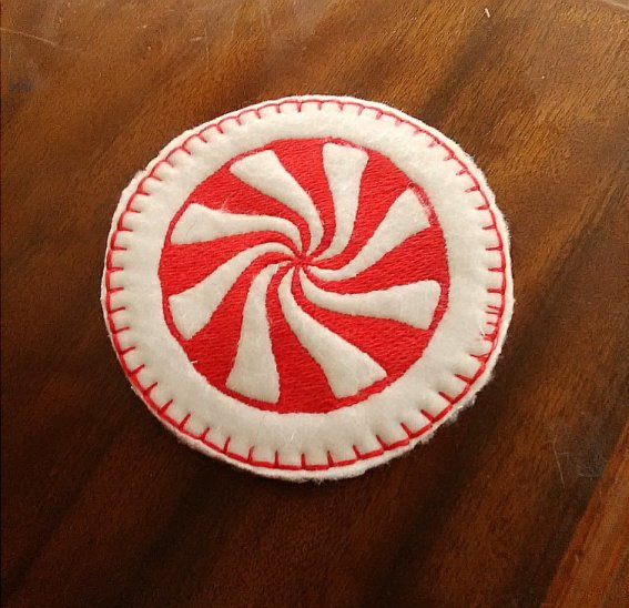 Finished Peppermint Coaster