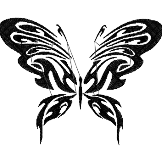 Single color butterfly image