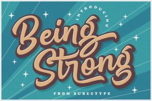 Being Strong - Layered Script Font