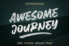 Awesome Journey - Urban Street Font