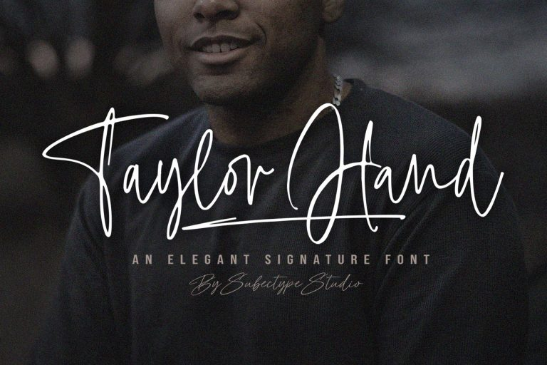 Preview image of Taylor Hand – Natural Signature Font