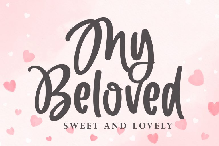 Preview image of My Beloved – Lovely Display Font