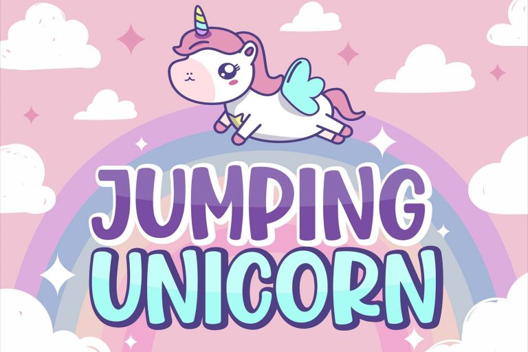 Preview image of Jumping Unicorn – Fun Display Font