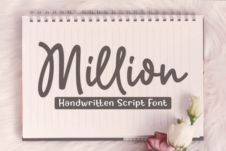 Preview image of Million – Natural Handwritten Font