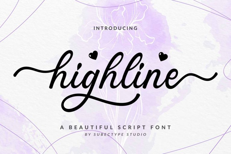 Preview image of Highline – Clean Cript Font