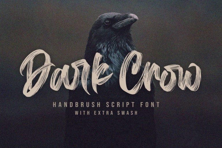 Preview image of Dark Crow – Brush Font
