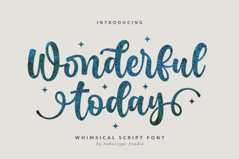 Preview image of Wonderful Today – Cute Script Font