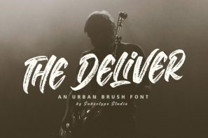 The Deliver - An Urban Brush Font