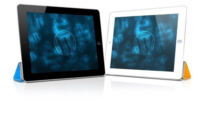 WordPress Logo on iPad
