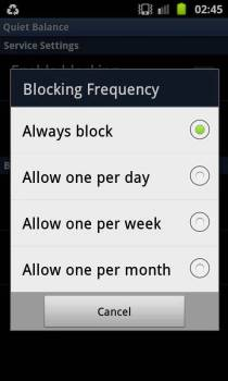 How to block the USSD notification/balance update messages on